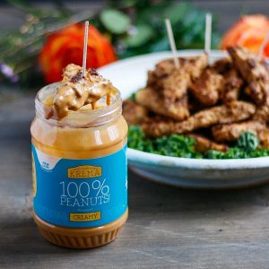 Roasted Peanut Tempeh Natural Peanut Butter Dipping Sauce