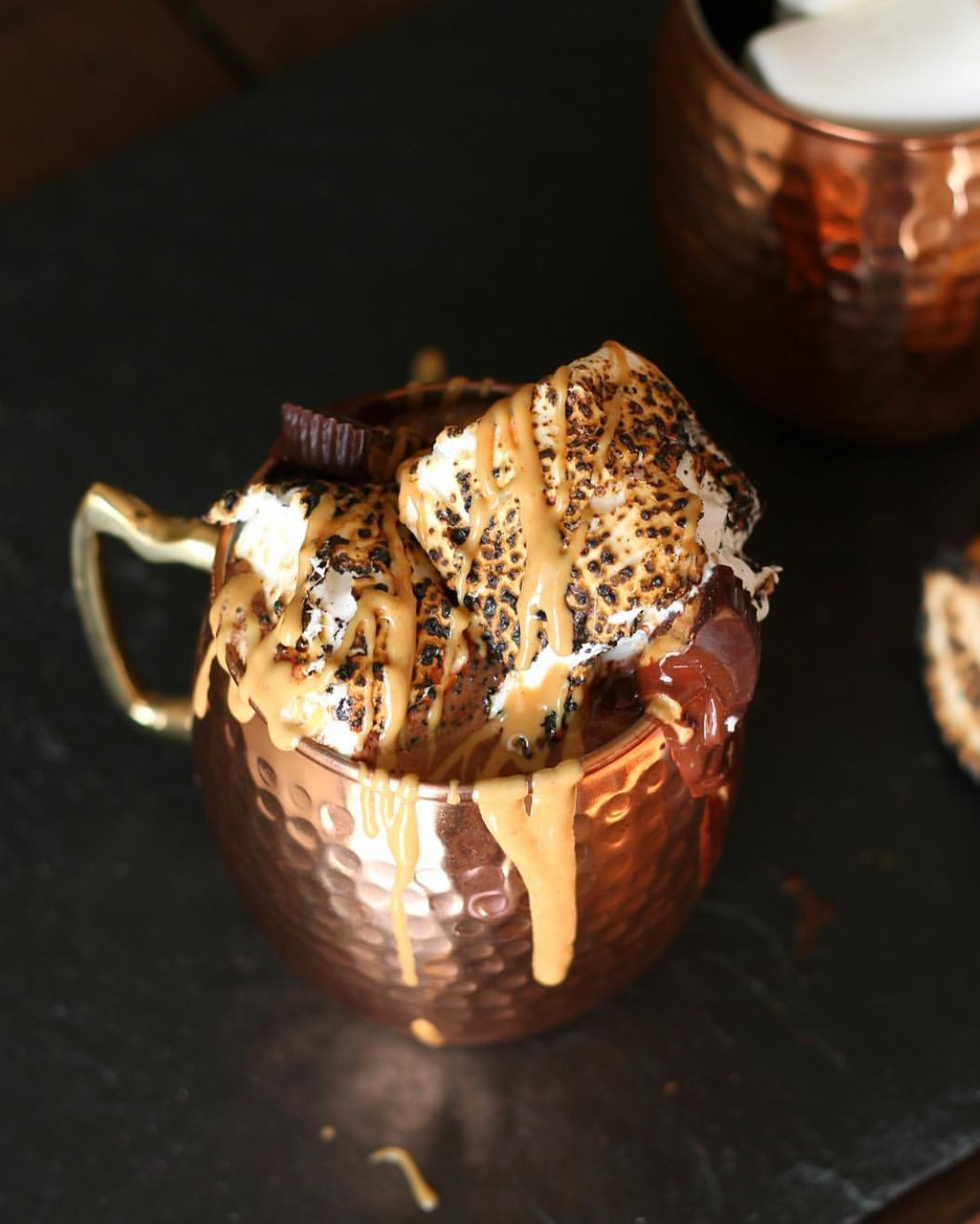 Toasted Marshmallow Peanut Butter Cup Hot Chocolate