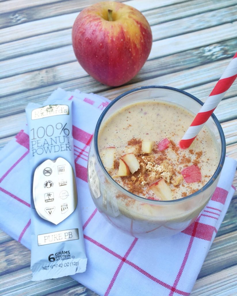 Apple Peanut Butter Smoothie Recipe by Lauren Pincus, RD of nutritionstarringyou.com