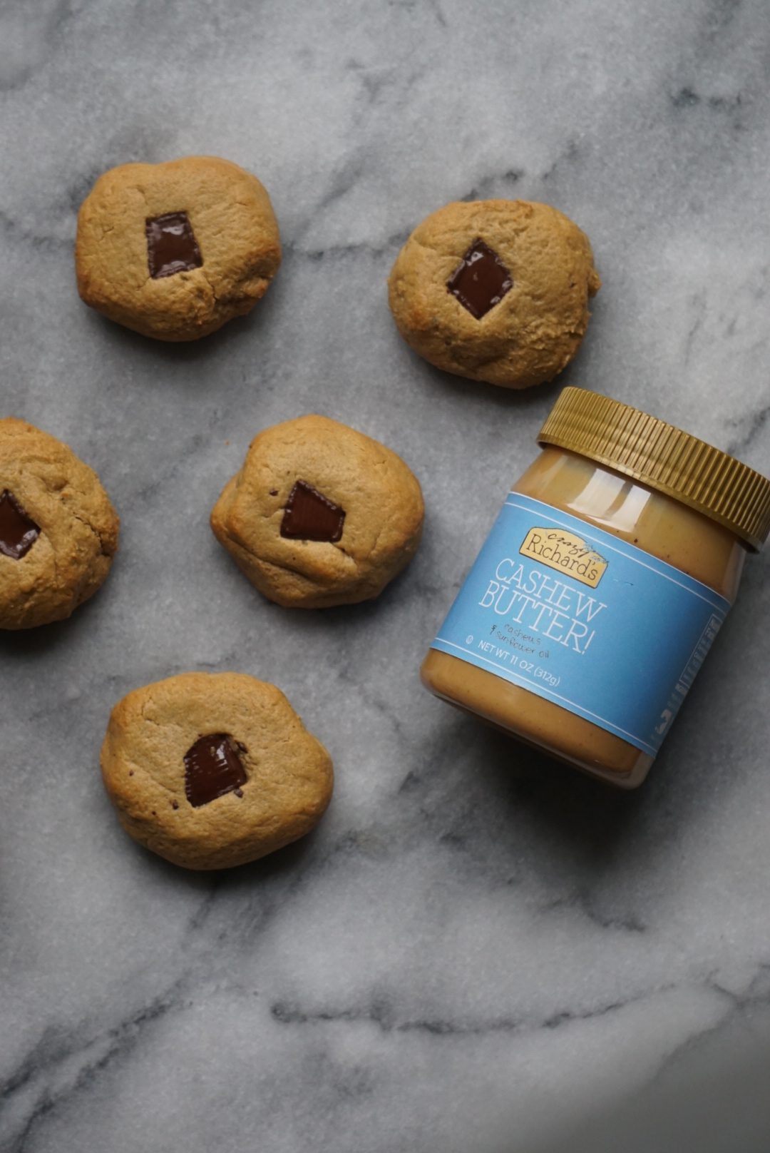 Paleo Chocolate Chunk Cashew Butter Cookies