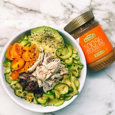 Peanut Butter Zoodle Chicken Salad