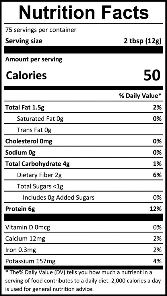 Peanut Butter Powder 2lb Full Nutrition Facts