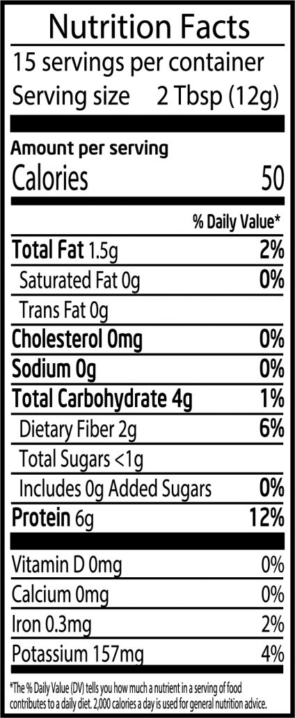 Peanut Butter Powder 6.5oz Full Nutrition Facts
